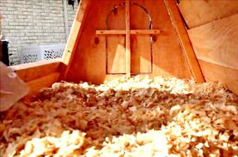 chicken coop brooder in one building