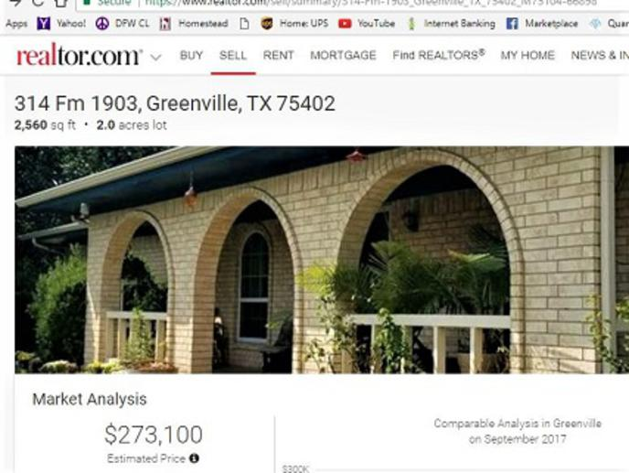 COUNTRY LIVING GREENVILLE TX LAND AND HOUSE FOR SALE